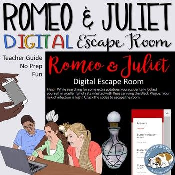 Romeo and Juliet Digital Lock Box Escape Room Game