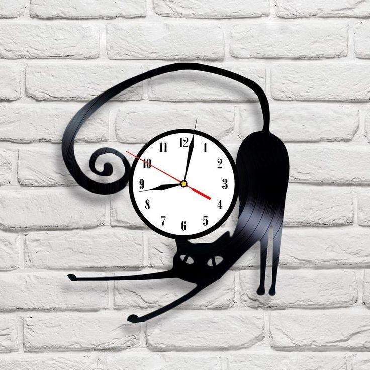 Reloj De Pared De Gato Disco De Vinilo | eBay