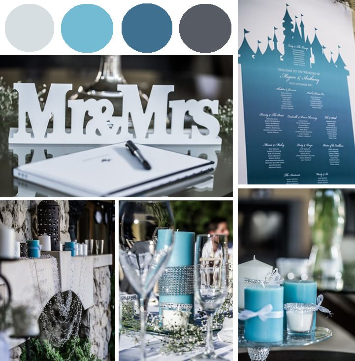 A pallet with multiple tons of blue mescle with white and silver was the chosen color selection for Megan and Anthony's wedding. Click by Algarve Wedding Photography #weloveweddings #awp #paulaandkarina #weddings #moments #weddingplanners #inspiration #moments #bridessecrets