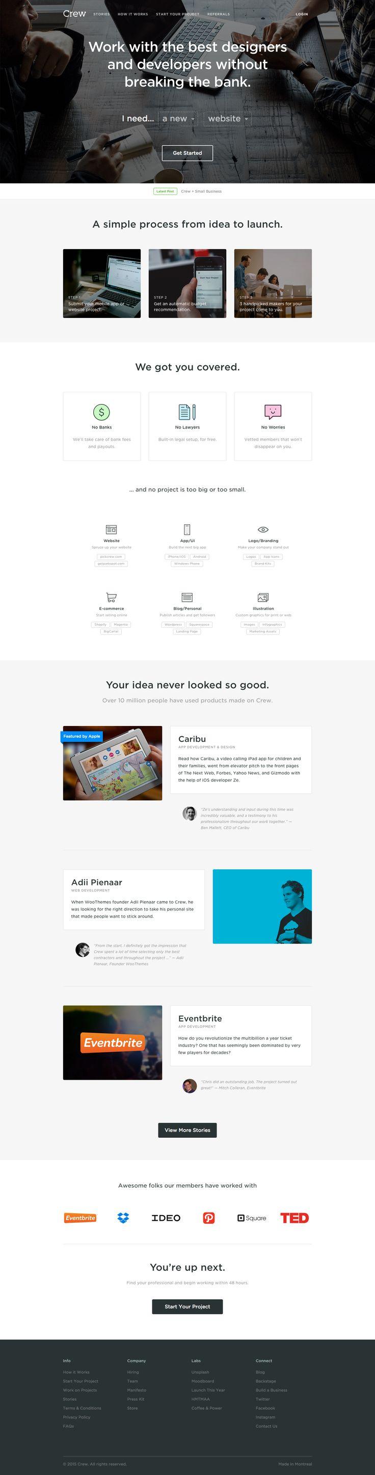https://pickcrew.com/ Handpicked Freelance Web design & web developers.