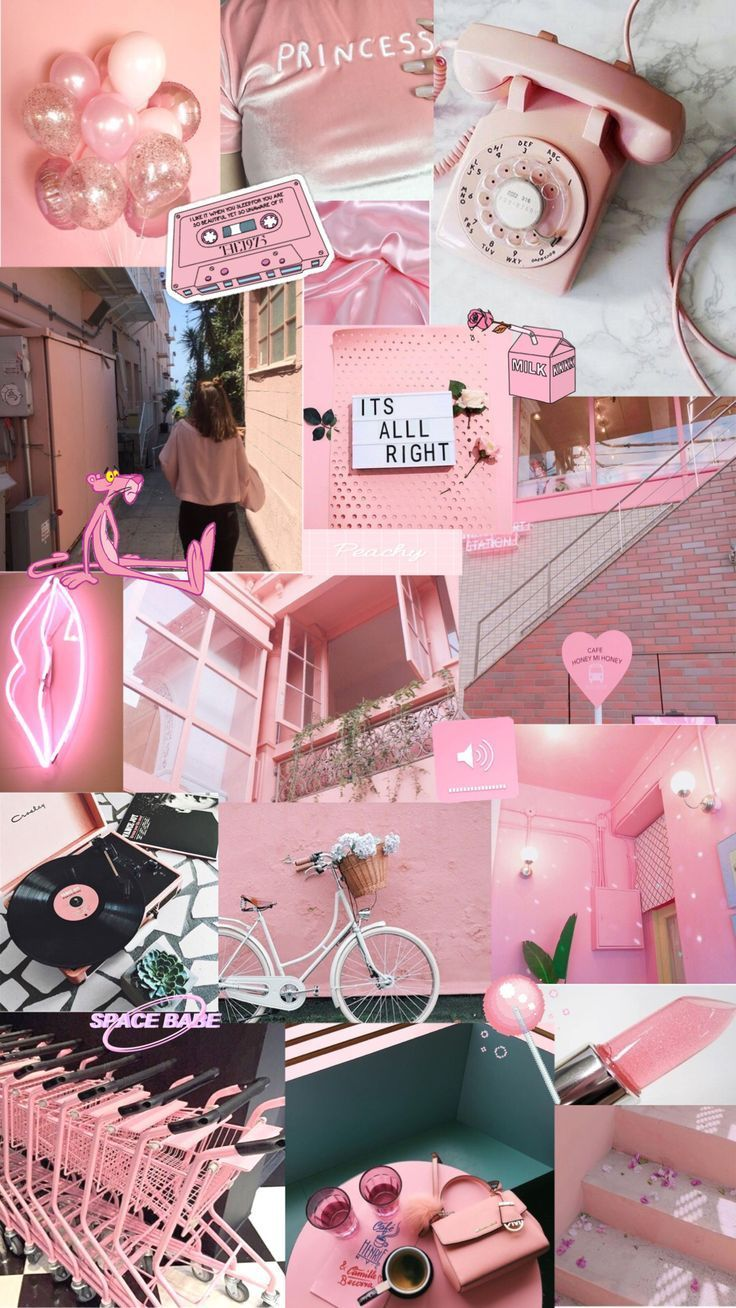 Wallpaper Backgrounds Aesthetic – rosa ästhetischer Hintergrund #wallpaperbackground …