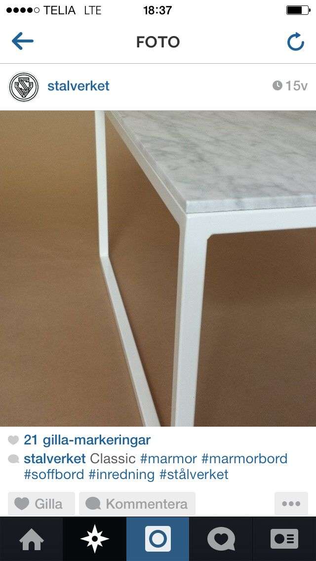 Marmor, litet bord