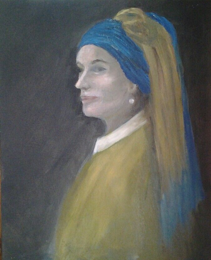 Girl with the pearl earring aged 40 Sold