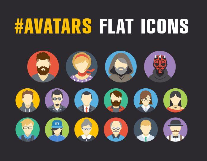 Ознакомьтесь с этим проектом @Behance: «Free avatars flat icons» https://www.behance.net/gallery/47035405/Free-avatars-flat-icons