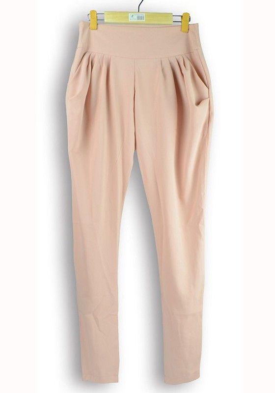 Pink Zipper Draped Tapered Long Chiffon Pants..these make me breathe fast lol love them