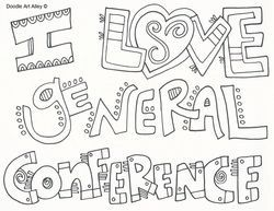 General Conference Doodle Coloring pages