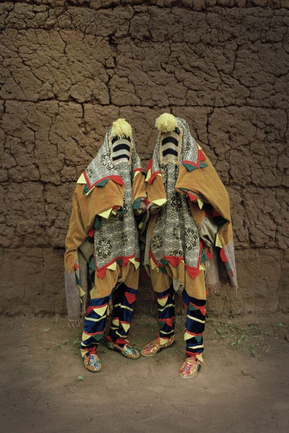 Untitled, Egungun Series, 2011, Leonce Raphael Agbodjelou, Benin, b. 1965, digital exhibition print, 59 x 39 1/4 in., loan from the artist and Jack Bell Gallery, London. © Leonce Agbodjelou, Photo courtesy of Jack Bell Gallery, London.