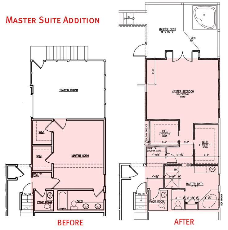 for Master bedroom and bath plans