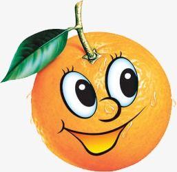 Днем, веселый апельсин картинки для детей на прозрачном фоне