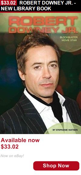 Children And Young Adults: Robert Downey Jr. - New Library Book BUY IT NOW ONLY: $33.02