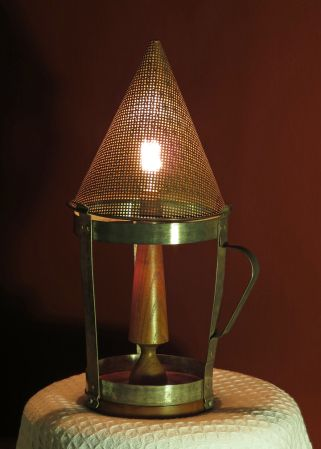 Rustic potato ricer lamp #vintage, #repurposed