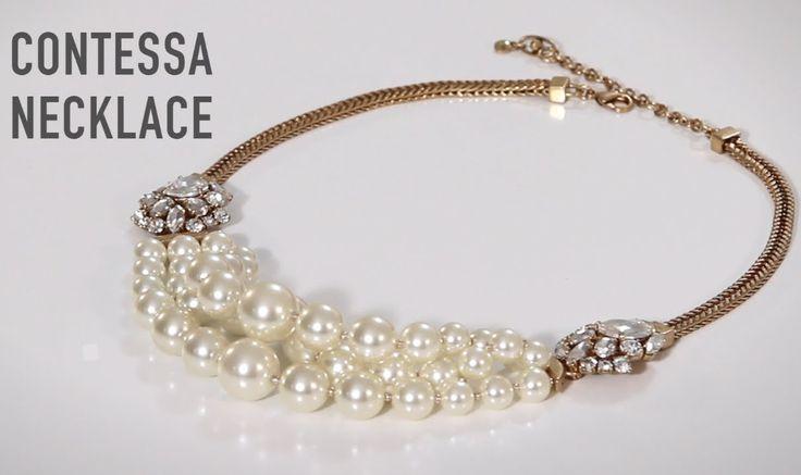 "CAbi Fall 2014 Jewelry: Contessa Necklace $138  ""How-To"" www.megganstanton.cabionline.com"