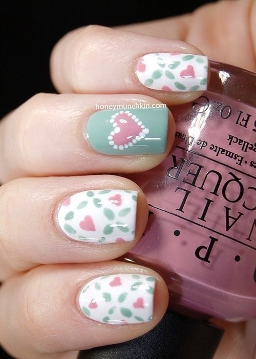 diy valentine's day nail art