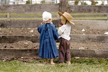 Do you know how to climb? Amish children