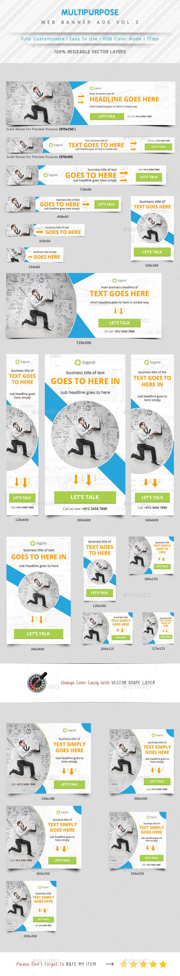 Multipurpose Web Banner Ads Template #design #ads Download: http://graphicriver.net/item/multipurpose-web-banner-ads/12324022?ref=ksioks