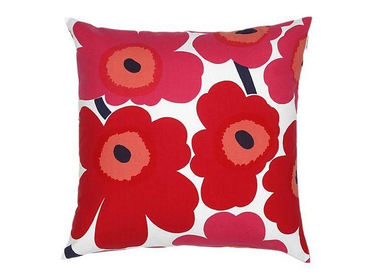 Marimekko - povlak na polštář Unikko 50 x 50 cm červený