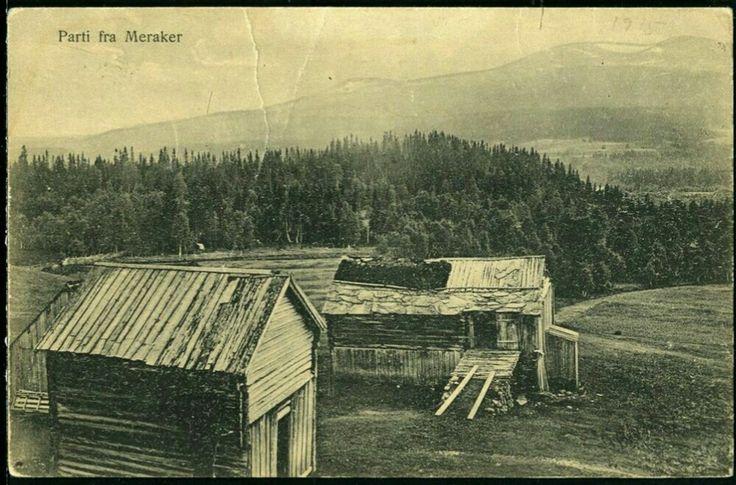 Meråker i Nord-Trøndelag fylke ca 1900 Utg Narvesen