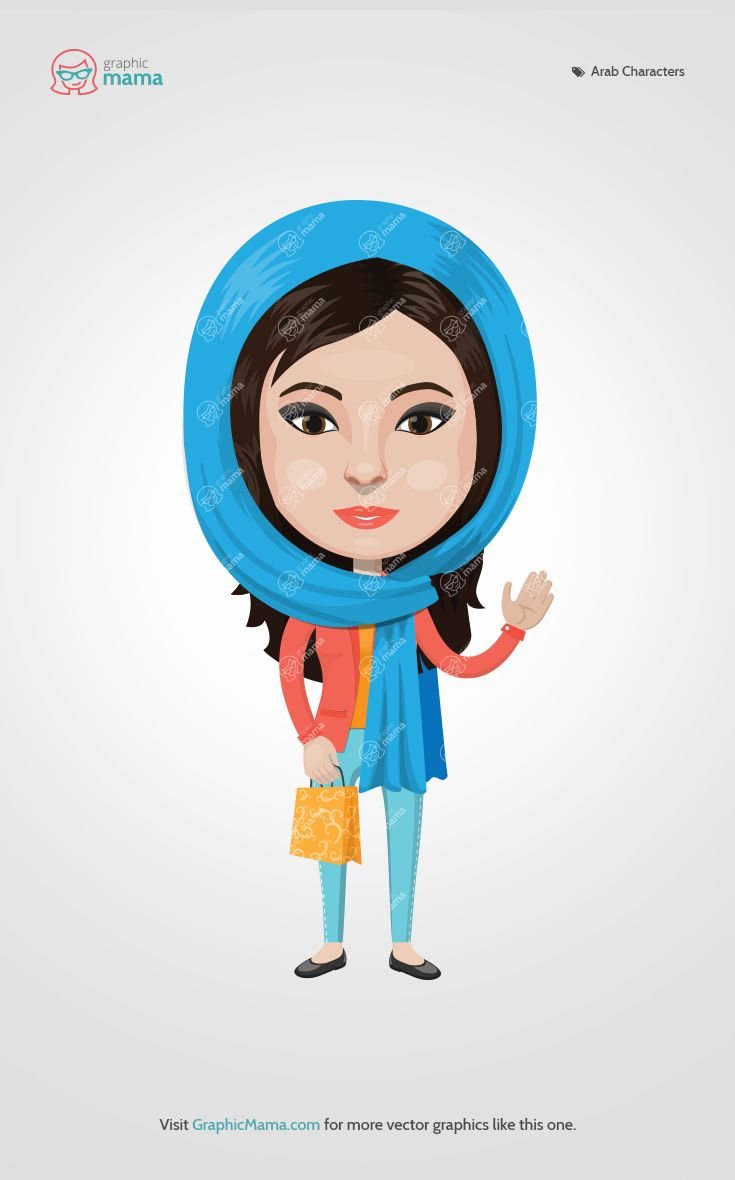 #GraphicMama new Arabian creation kit - endless do-it-yourself combinations with which you can explore traditional Arabian culture, costumes, hairstyles. But that's not all - you can also create your own Arabian modern looking avatar.