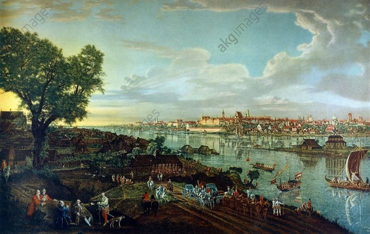 """Vue de Varsovie"", 1773/74, tableau de Bernardo Bellotto, appelé Canaletto (1720–1780)."