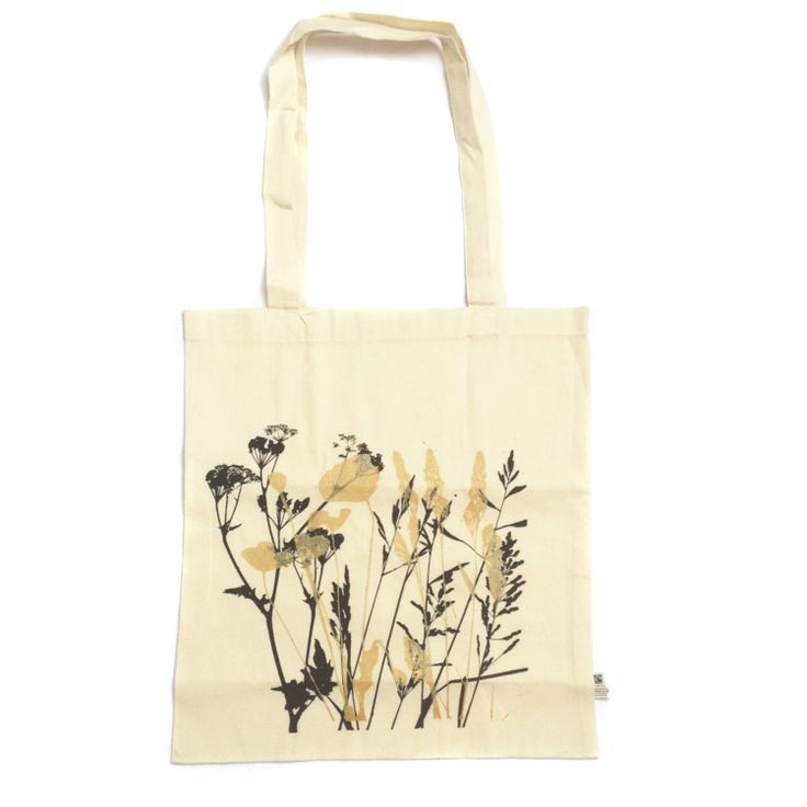 Organic cotton wildflower tote