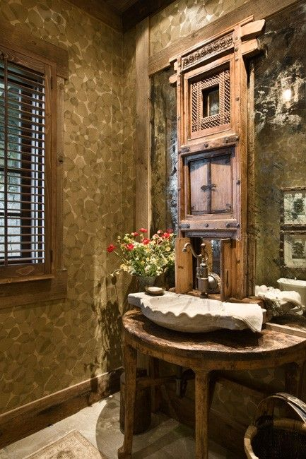 134 best images about wash and brush up on pinterest for Rustic half bath ideas