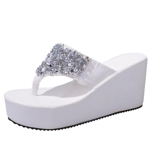 d404549b938b3 VTOTA Flip Flops Women Summer Shoes Women Sandals Wedges high heel Casual  Comfortable slippers women Handmade Ladies Shoes FC