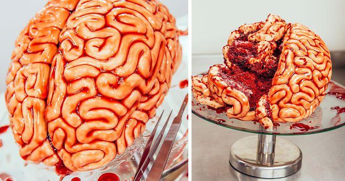 Wie erstelle ich ein Red Velvet Brain Cake für Halloween   – My Style