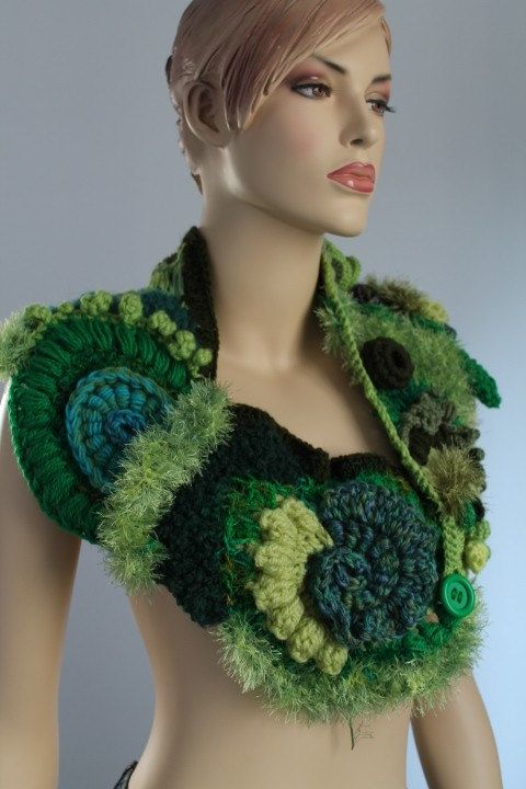 Knitting Wearable Art : Best images about knit crochet free form on pinterest
