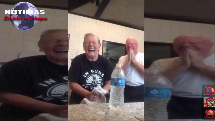 Tierna broma de ancianos: engaña a su esposo con truco de magia