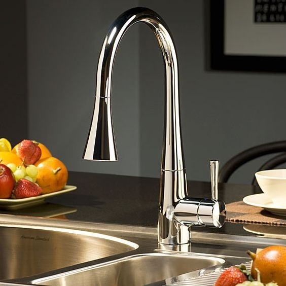 Kitchen Faucet - Kitchen Product List - Kitchen Faucets by American Standard http://www.tapforyou.co.uk/bathroom-sink-taps/wall-mounted-basin-taps/chrome-finish-color-changing-wall-mount-tub-tap-with-hand-shower-t0500bw