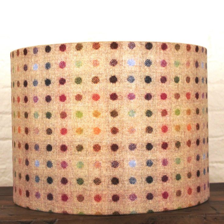 Luxury Multicoloured Spot Natural Wool Drum Light Shade, fabulously sophisticated designs www.serendipityhomeinteriors.com