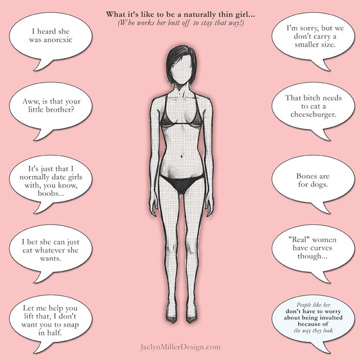 "Skinny Girl Problems. Seriously, it's worse than being overweight. No body sticks up for the naturally skinny girls and tells them they are ""beautiful just the way they are"""