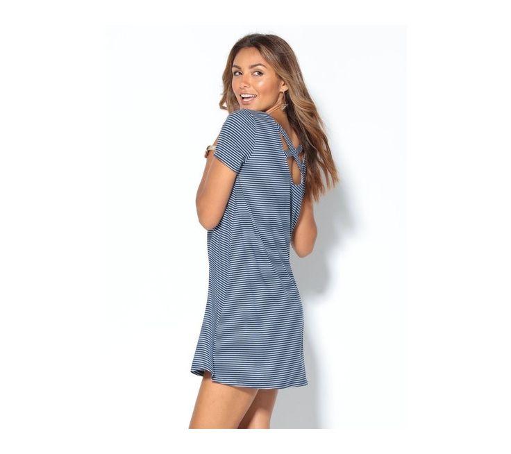 Prúžkované šaty s prekrížením vzadu | vypredaj-zlavy.sk #vypredajzlavy #vypredajzlavysk #vypredajzlavy_sk #saty