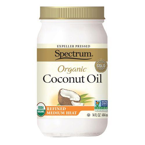 Spectrum Naturals Organic Refined Coconut Oil - Case of 1 - 14 Fl oz. (Pack of 3)