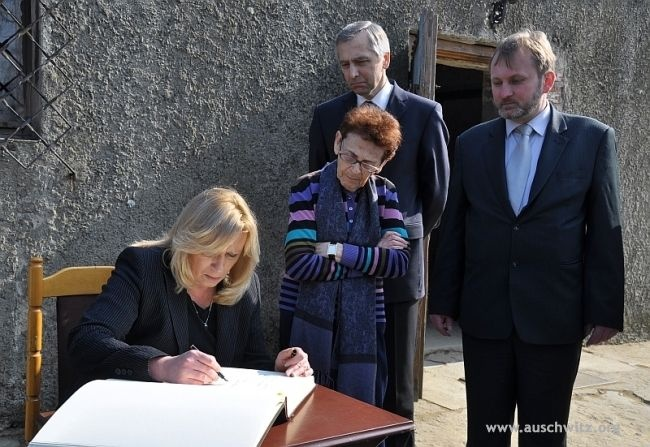 On March 23 a special Memorial Train from Slovakia arrived at Auschwitz along a historical route commemorating the 70th anniversary of the deportation of the first group of Jewish women from Slovakia by the German Nazis to Auschwitz. The ceremony was attended by Slovak Prime Minister, Iveta Radičová and  Deputy Prime Minister, Jan Figel and many young people. A particularly special guest was Edita Grosmanová, survivor of Auschwitz, who that time was sent to the camp.