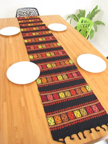 Amazing Handcrafted Table Runners. Made On A Backstrap Loom And Each One Has Unique  Characteristics. Mexican StyleDream ...