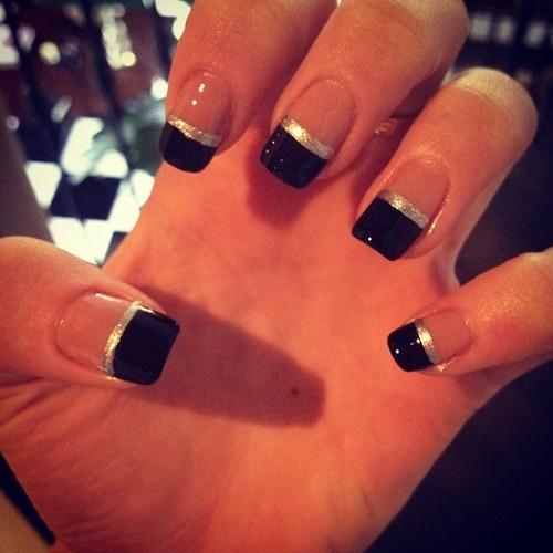black tip nails tumblr - photo #10
