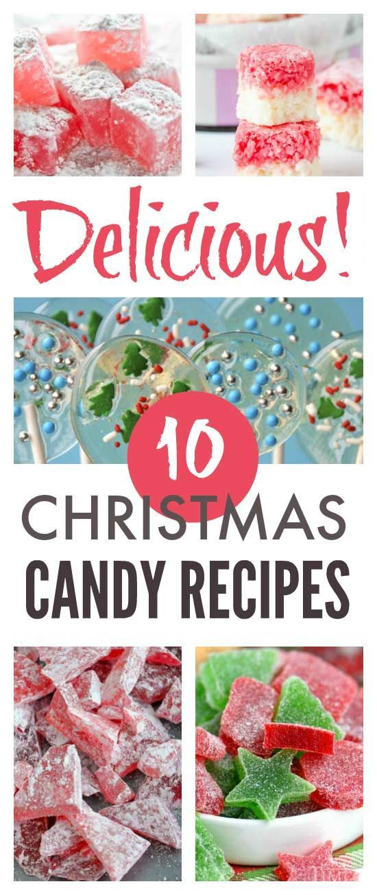 Deliciously simple homemade Christmas candy recipes #Christmas #candy #christmascandy