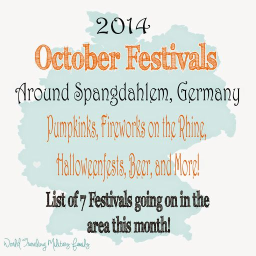 October brings fall and with that the start of some fall festivals in Germany ! I'm excited to share October festivals around Spangdahlem with you! We had a great time checking out the August Festivals & September Festivals. Again these are generally no more than 3 hours away, although I may throw in one or [...]