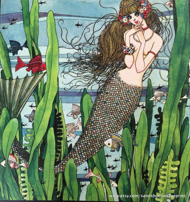 1968 JUNICHI NAKAHARA Little MERMAID Print Perfect for Framing by sandshoevintageprint on Etsy