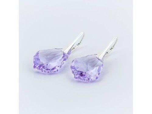 KOLCZYKI SWAROVSKI BAROQUE 22MM VIOLET SREBRO 925 - KL2116 Materiał: Srebro 925 + kryształ Swarovski Elements Kolor: Violet  Rozmiar kamienia: 2,2cm Wysokość kolczyka: 3,4cm Waga srebra: 1,33g ( 1 para ) Waga kolczyków z kamieniami: 5,75g