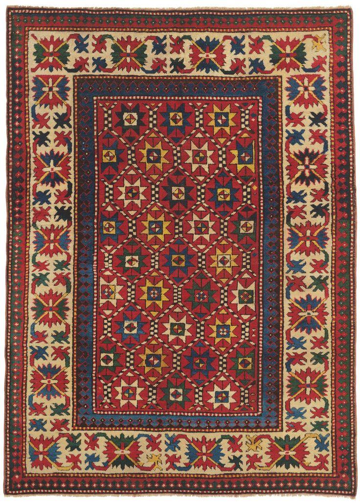 Kazak Southern Central Caucasian Antique Rug X Circa 1900 Claremont Company