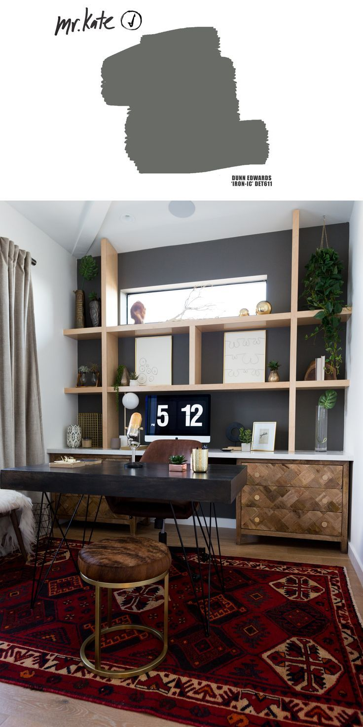 Liza Koshy S Dream Home Office Office Wall Colors Gray Home Offices Home Decor