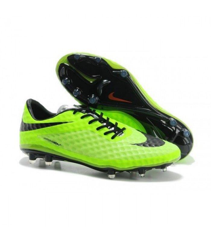 Acheter Coupe du monde 2014 Crampons Nike Hypervenom Phantom FG Vert Noir pas cher en ligne 91,00€ sur http://cramponsdefootdiscount.com