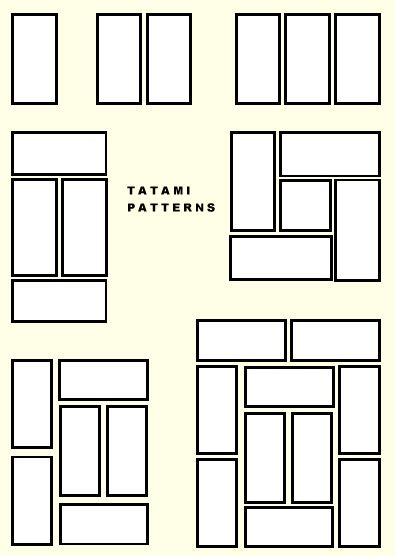 Tatami / layout - based off Golden Ratio