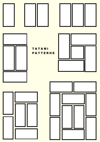 Tatami / layout - based off Golden Ratio