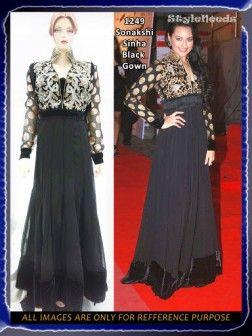 Sonakshi Sinha Black Gown