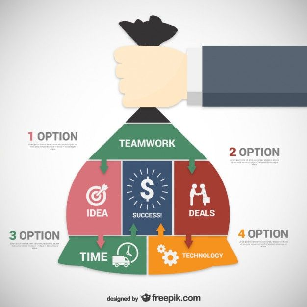Business teamwork options Free Vector