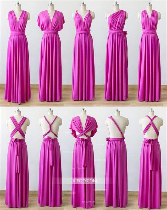 013346f39ba3 Hot Pink Convertible Bridesmaid Dresses ,Infinity Dresses, Multiway Dresses  #Pink #bridesmaid #INFINITY