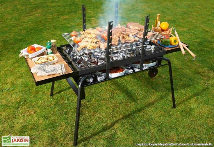 Barbecue Braséro Charbon de Bois Géant Luxe